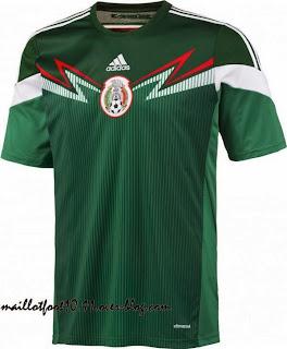 Le maillot du Mexique de la Coupe du monde 2014