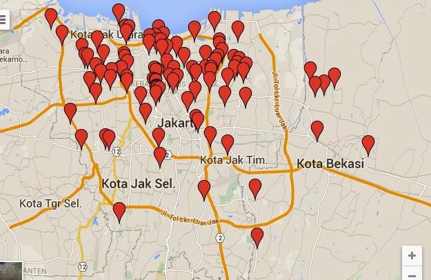 lokasi peta banjir jakarta