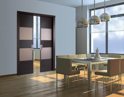 modernas puertas de interior para decorar un ambiente