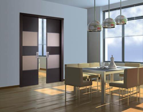 Modernas puertas de interior para decorar un ambiente for Disenos de puertas para casas modernas