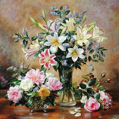 Rosas Hermosas, Pintura Al óleo Imagen de archivo  - Imagenes De Pinturas Al Oleo De Flores