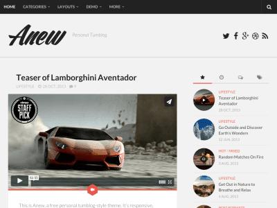 Anew WordPress Theme