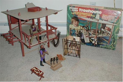 a Planet Of The Apes treehouse playset