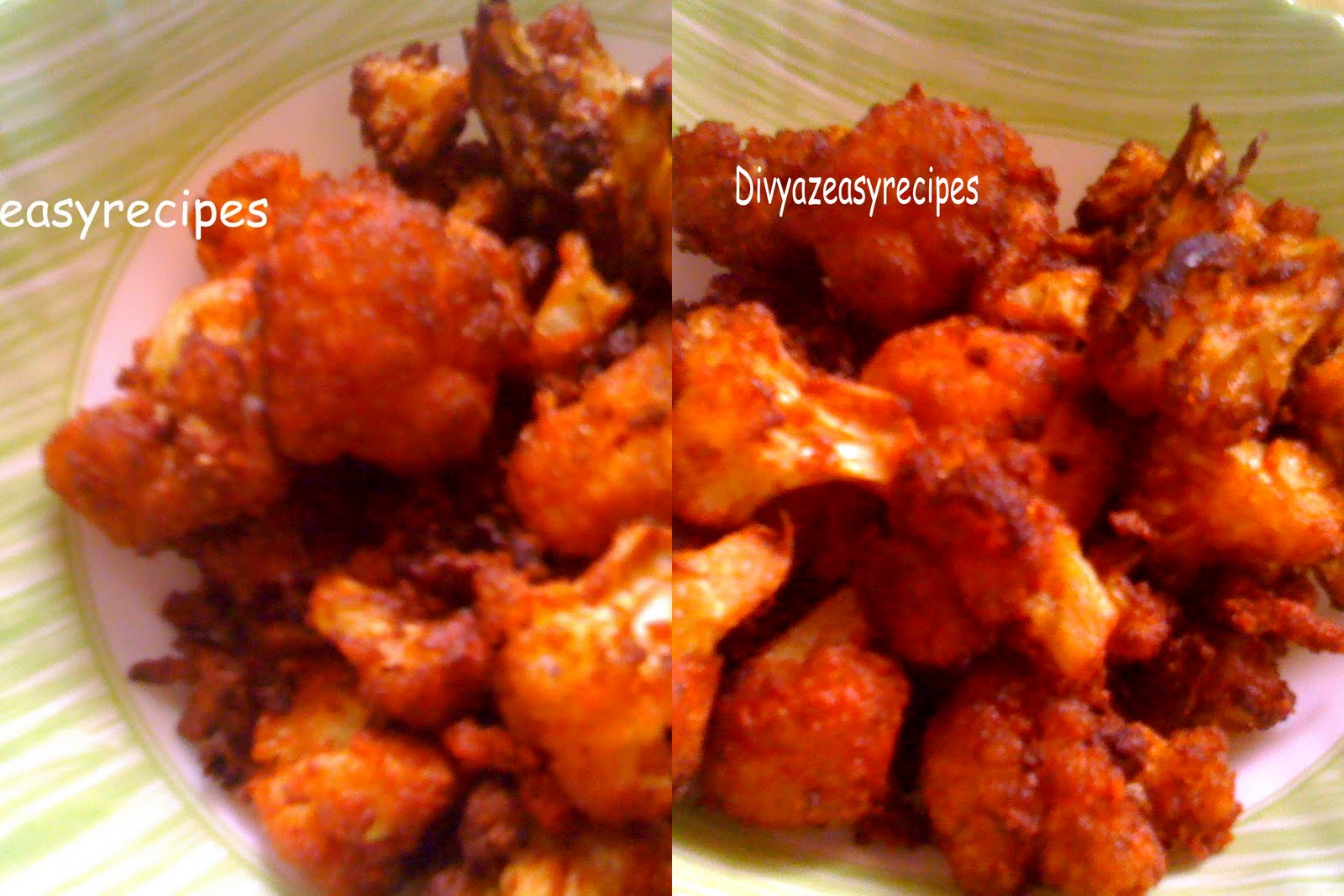 Divyazeasyrecipes: Crispy Cauliflower fry