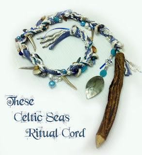 These Celtic Seas Ritual Cord from MoonsCrafts in blues )0(