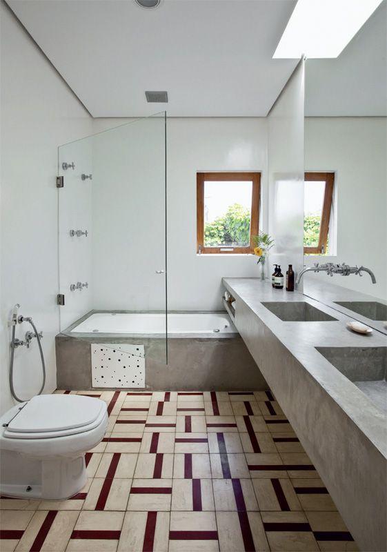 Banheiros com banheira  Reciclar e Decorar  Blog de Decoração e Reciclag -> Banheiro Comprido E Estreito Com Banheira