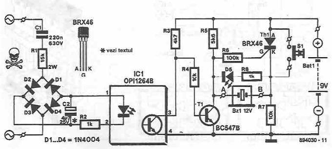 Circuit Project: Network voltage indicator electronic circuit