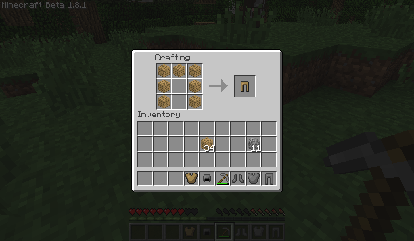 how to build a chestplate in minecraft