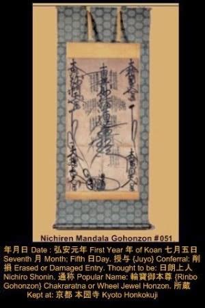 Gohonzon Nichiren