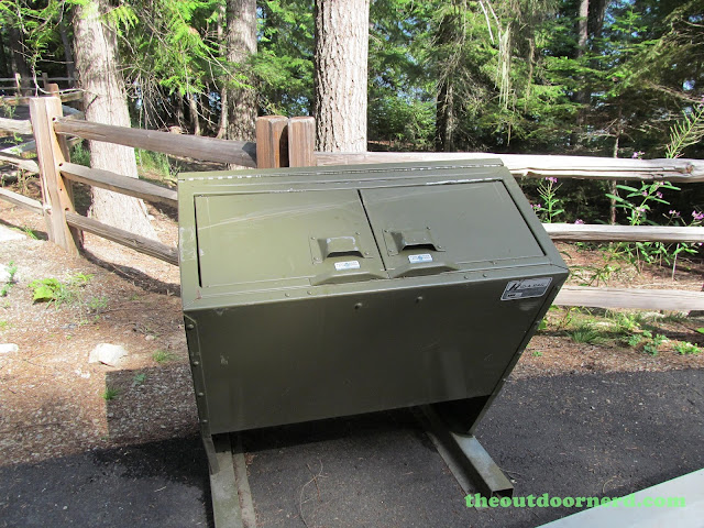 Outlet Campgrounds At Priest Lake, Idaho: Bear Proof Trash Boxes