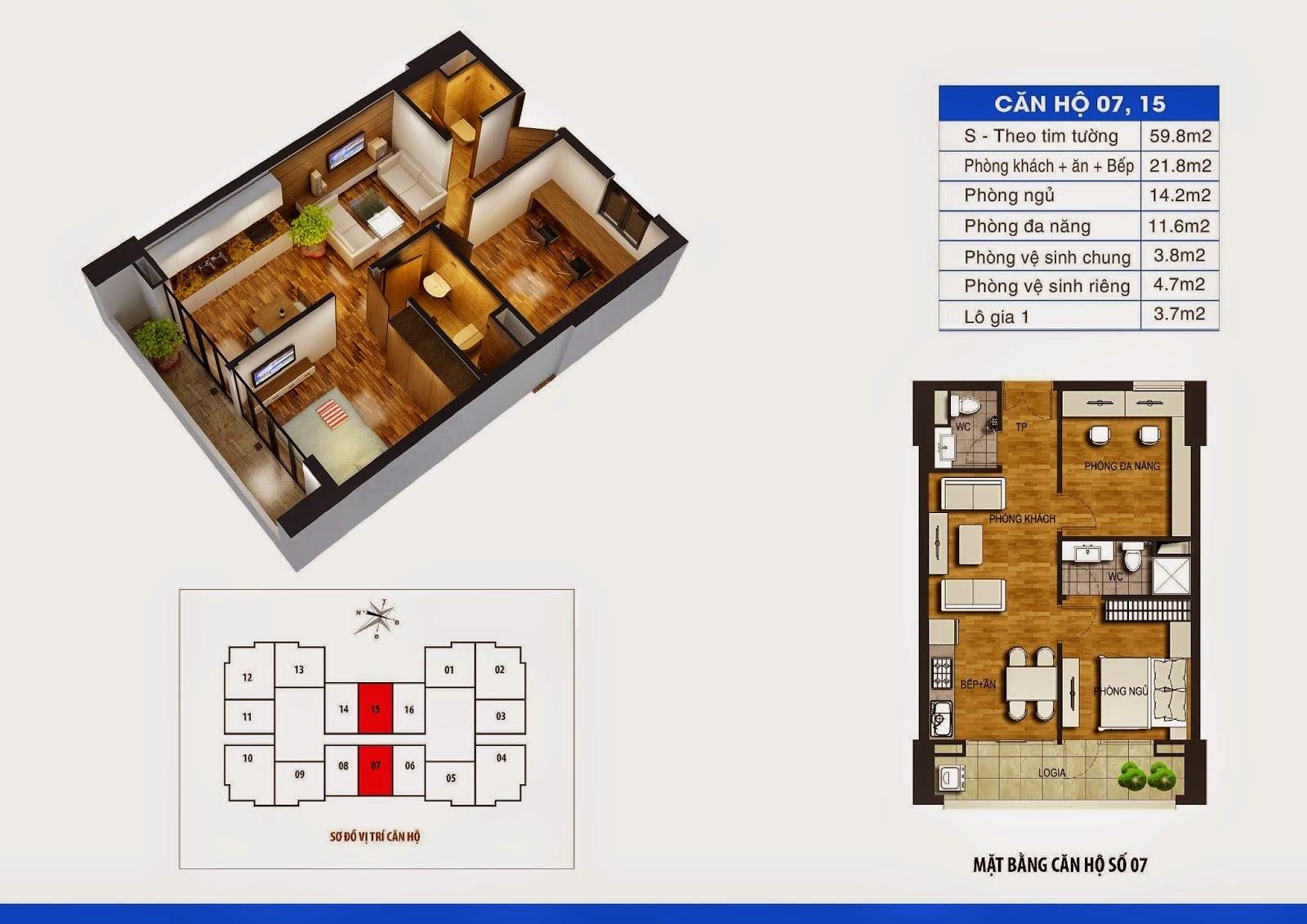 Mặt Bằng Chung Cư Dream Home - 36 Định Công