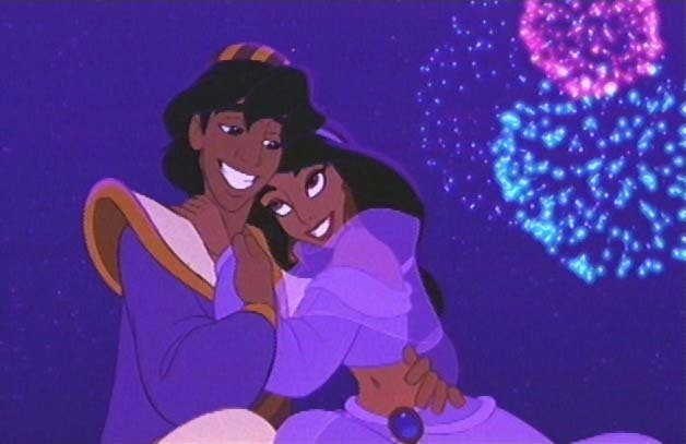 Aladdin Jasmine love animated film reviews.blogspot.com