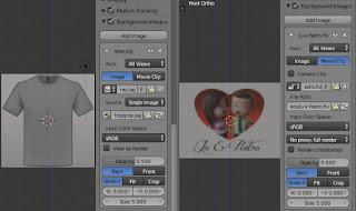 background gambar dan video di Blender