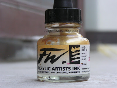 Acrylic Gold Ink Paint