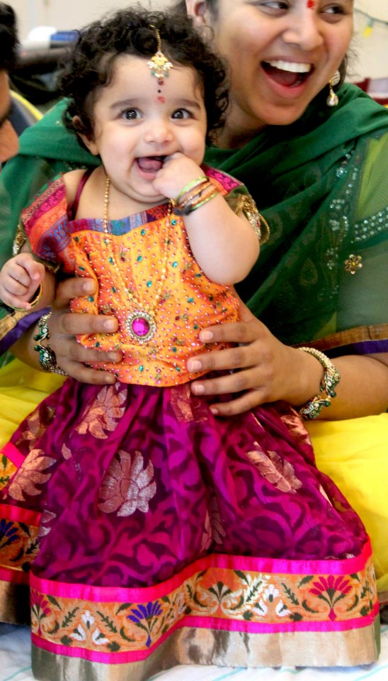 Indian Cute Girl Baby First Birthday Jewellery And Dress