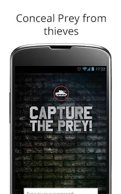 screenshot of Prey anti theft android app