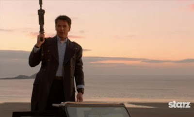 Captain Jack Harkness machine gun Torchwood Miracle Day New World John Barrowman images photos pictures screencaps