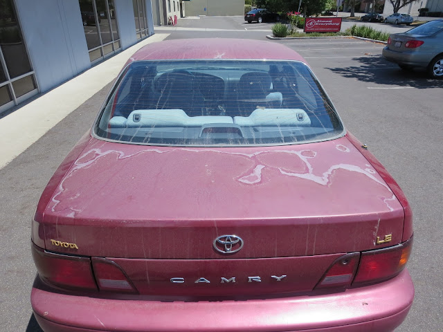 1995 Camry with peeling clear coat before repairs at Almost Everything Auto Body