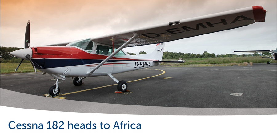 Cessna 182 heads to East Africa