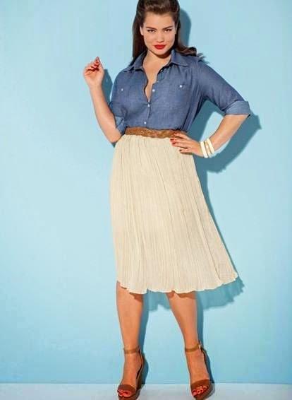 falda plisada para gorditas 2014