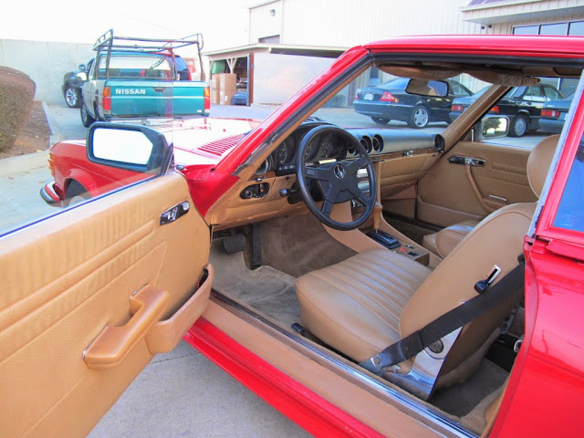mercedes r107 interior