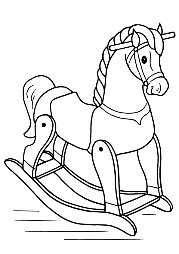 wooden horse coloring