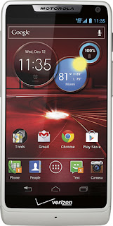 Motorola MOTXT907W - DROID RAZR M 4G LTE Mobile Phone - White (Verizon Wireless)