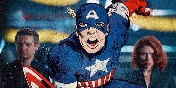 superhero comic and movie mashup captain america
