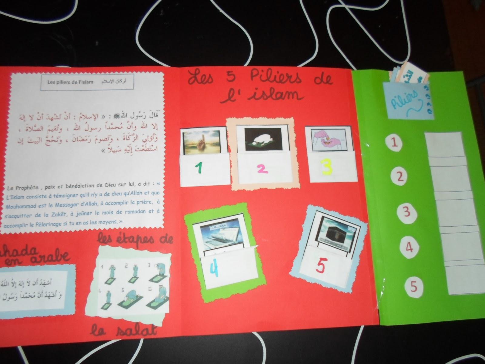 Populaire Lapbook des 5 piliers de l'islam - Mon école, c'est chez moi  KD89