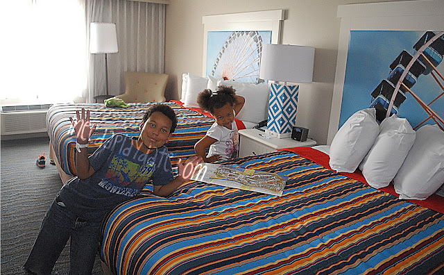 Bright, beautiful room at @CedarPoint Hotel Breakers #bloggingatCP