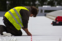 Placing Pads for Solar Panels Rails