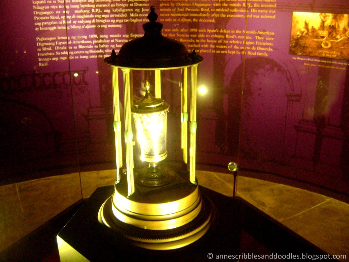 Jose Rizal Museum: Relic of Rizal's Vertebra