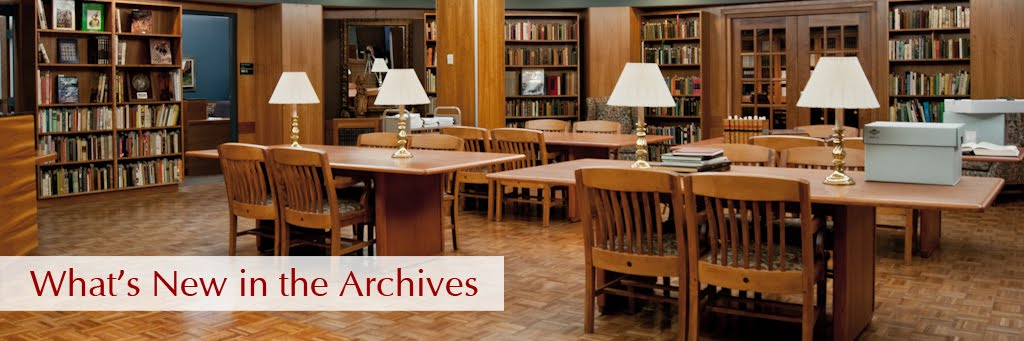 What's New In the Archives.....