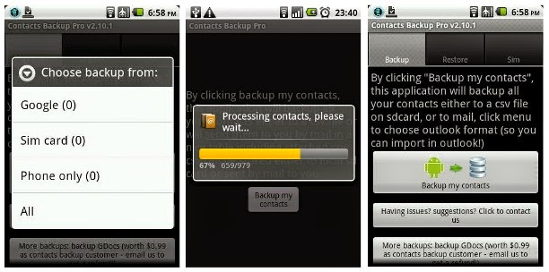 Contacts Backup 2.5.4 Android APK App Free Download