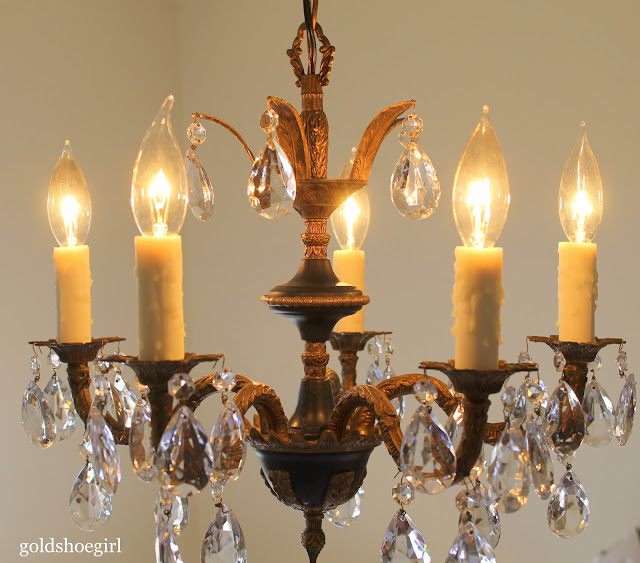 decorative chandelier candle covers gold shoe what a difference