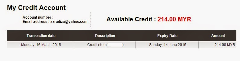 A Traveller's Note: Airasia's flight credit account