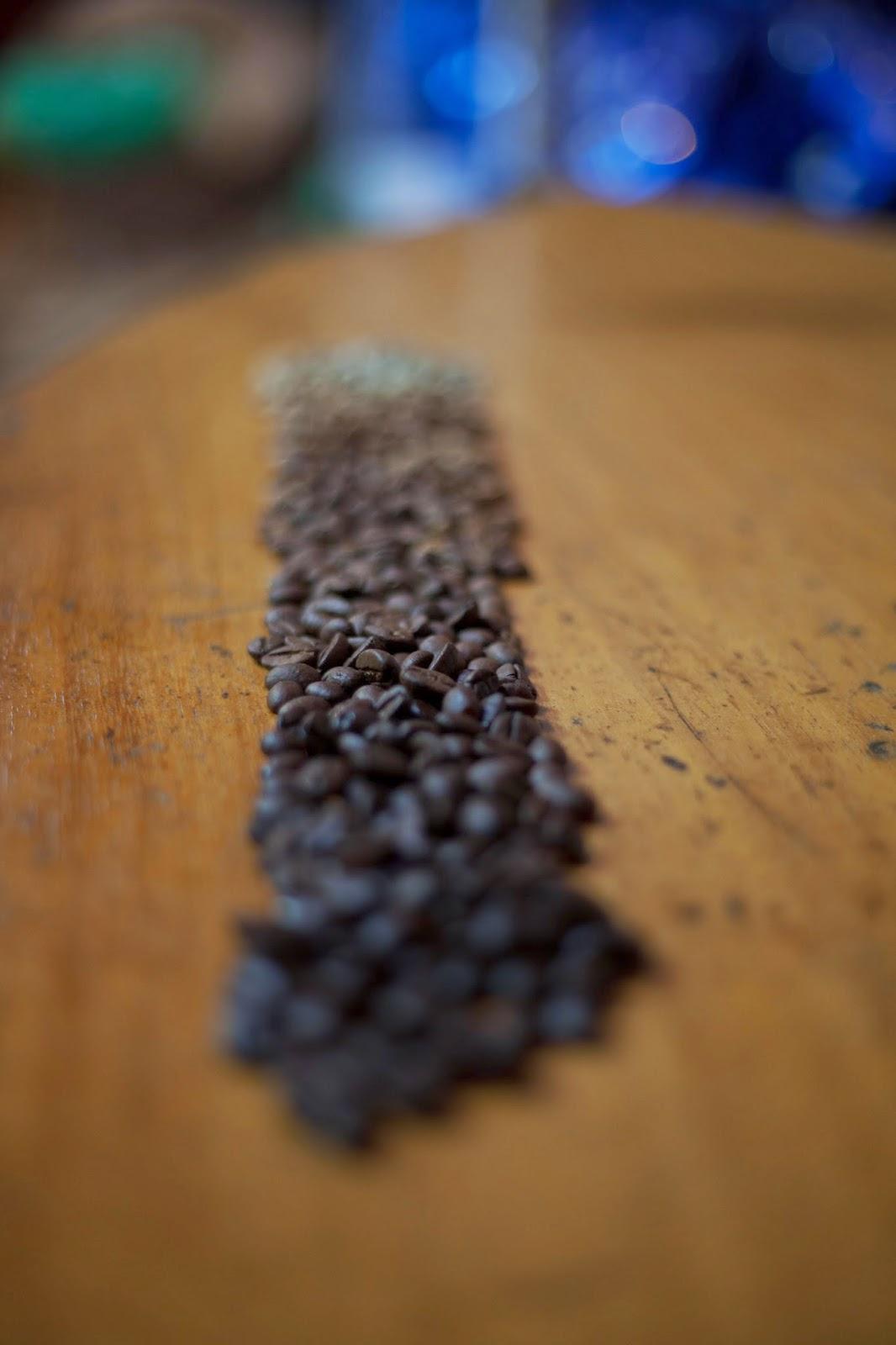 Coffee beans: light to dark roast