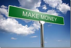 In the sky there is a earn money board represent the direction.