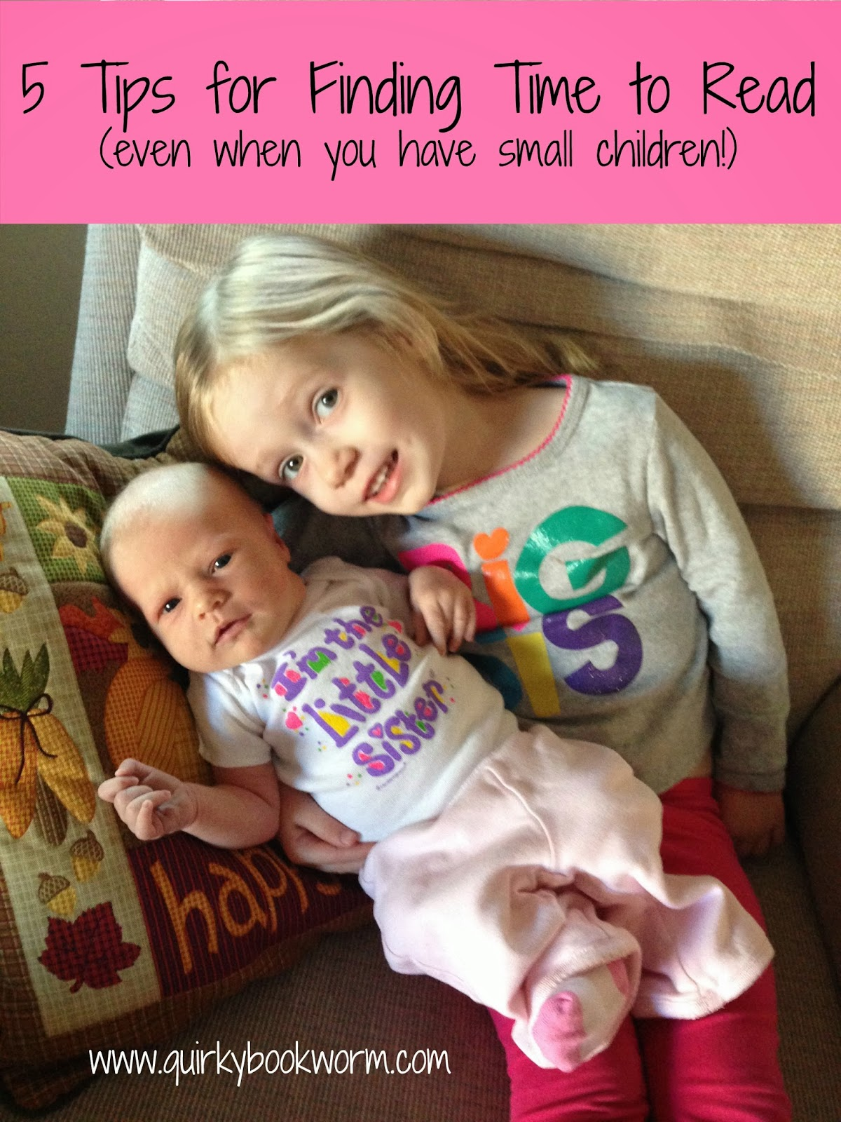 5 Tips for Finding Time to Read (even when you have small children!)