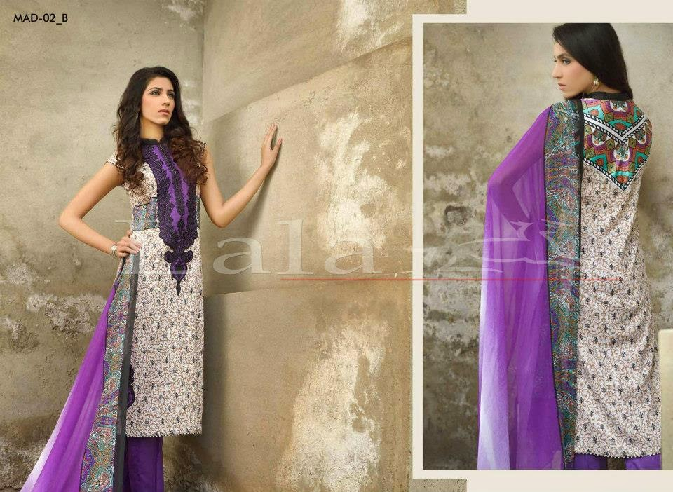Pakistani embroidered lawn collection 2015