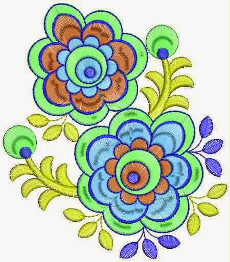 Indiese masjien borduurwerk Quilt