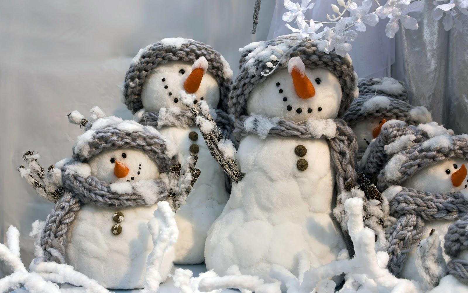 christmas landscapes: Wallpaper snowman