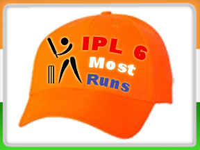 IPL Season 6 2013 Orange Cap Records and IPL 6 2013 Most Runs Records