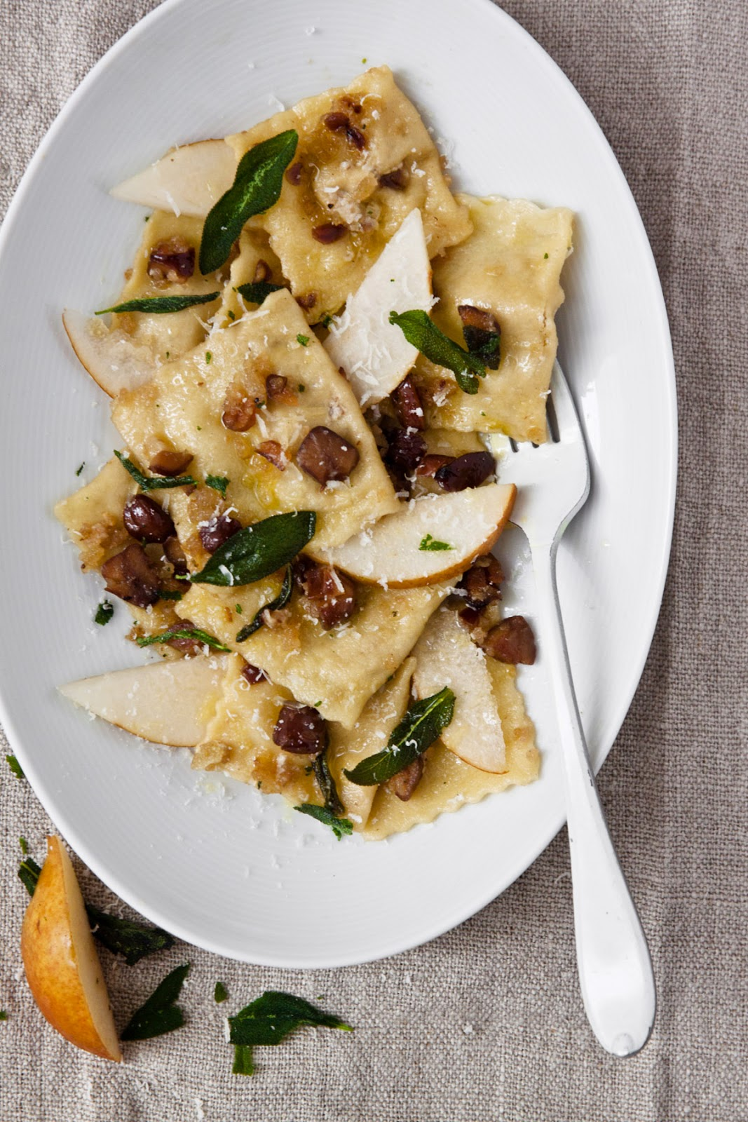 Pear and Chestnut Ravioli