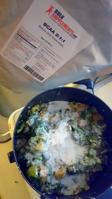 Added pure BCAA, Citrulline, and Glutamine to this already delicious coconut mango curry.