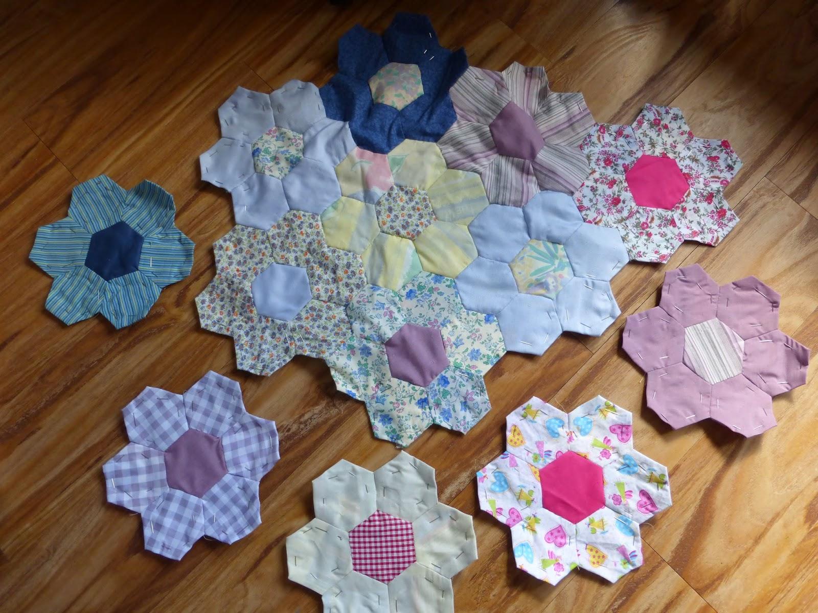 my 13 segments hand sewn quilt