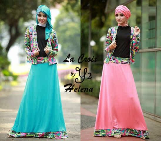Model Baju Gamis Pesta Terbaru Helena model baju muslim remaja lebaran trend 2016 terbaru chandra eros,Model Baju Muslim Lebaran 2014