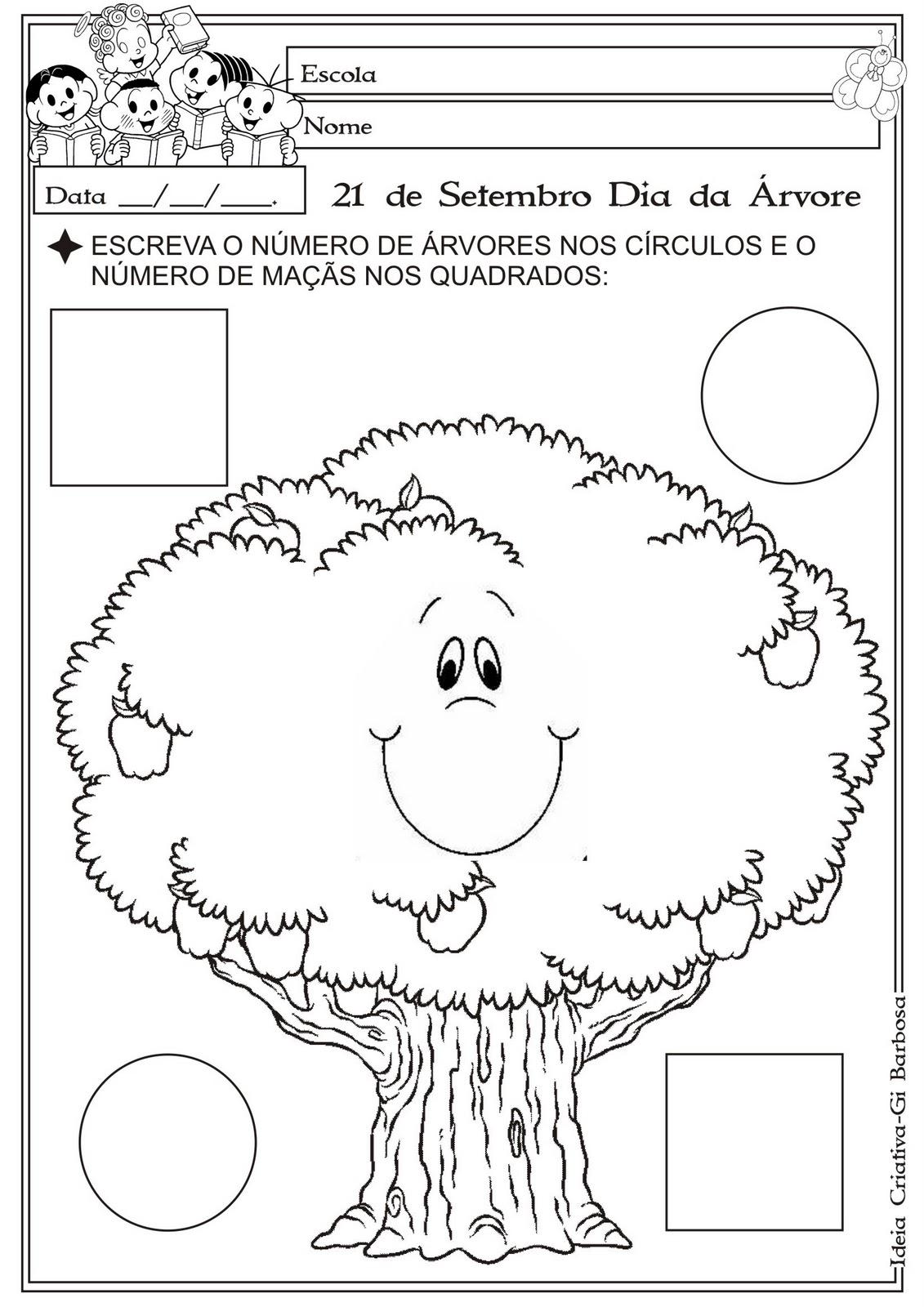 Famosos Atividade Matemática Educação Infantil Dia da Árvore Partes da  MO33