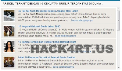 Cara Membuat Related Post Vertikal With Thumbnail