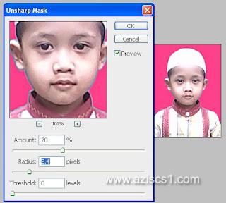 Menajamkan Foto dengan Filter Unsharp Mask